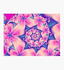 Flowery pink Floral blss Photographic Print