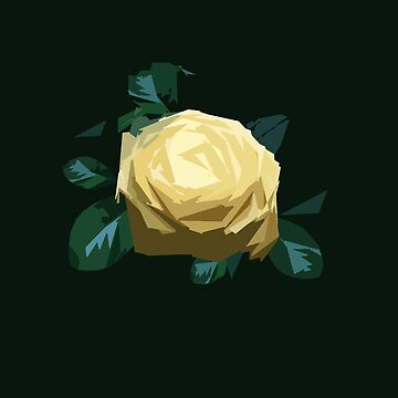 Yellow rose by aidesignstudio