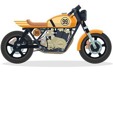 Vintage bike yellow by fabien-p