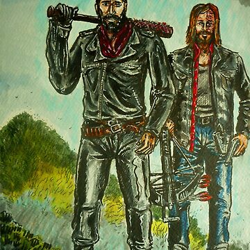 Negan & Dwight the Saviours by BikerDa