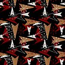 Wooden Arrows and Starbursts Atomic Retro by CheriesArt