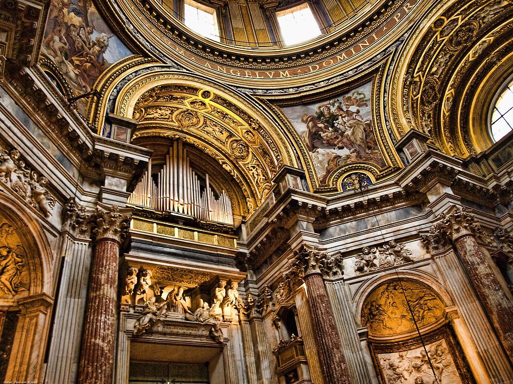 Interiors of S.Agnese in Agone, Roma by Andrea Rapisarda