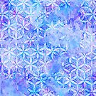 Flower-of-Life Paint Pattern Blue by Cveta