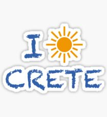 I love/sun Crete Sticker
