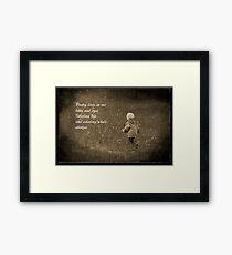 Poetry Lives in Me Framed Print