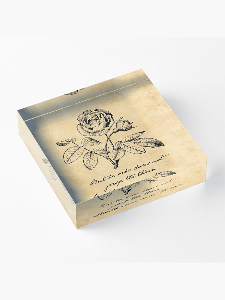 Alternate view of Anne Bronte - Grasp the Thorn Acrylic Block
