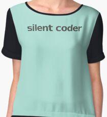 Silent Coder - Mint Chiffon Top