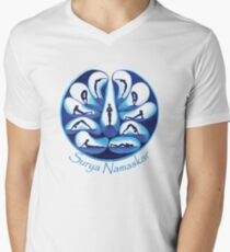 Yoga Design for Yoga Addicts - Yoga Gift - Yoga Art Men's V-Neck T-Shirt