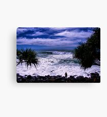 Surfer At Burleigh Headlands  Canvas Print
