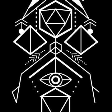 Cosmic Dice Geometry by artlahdesigns