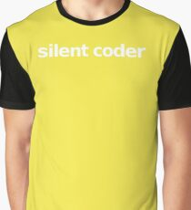 Silent Coder - Yellow Graphic T-Shirt
