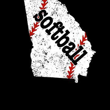 Georgia Youth Slowpitch Softball College Softball Shirt by shoppzee