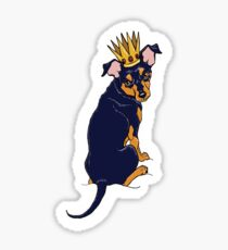 Miniature Pinscher KING PIN min pin Sticker