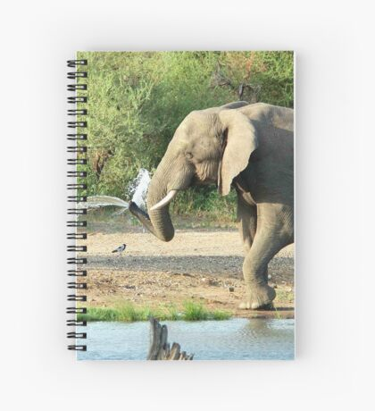 LAST SHOWER -  THE AFRICAN ELEPHANT – Loxodonta africana Spiral Notebook