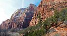 Zion National Park - Along a Hike - Panorama by Stephen Beattie