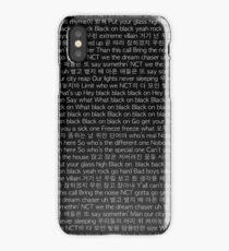 NCT 2018 Black on Black Lyrics Phone Case iPhone Case