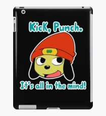Parappa the rapper Kick Punch, It's all in the mind! iPad Case/Skin