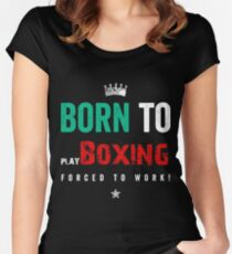 Elite boxing Fighter  Women's Fitted Scoop T-Shirt