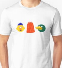 YELLOW, RED, DUCK - on white Unisex T-Shirt