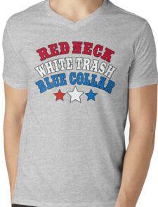 Red Neck White Trash Blue Collar Mens V-Neck T-Shirt