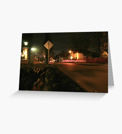 Red Back Light Street Greeting Card