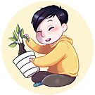 Phil with potted plant by backin2009