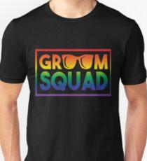 gay groom squad wedding apparel unisex t shirt