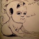 Anti Christ Sketch by KillerNapkins