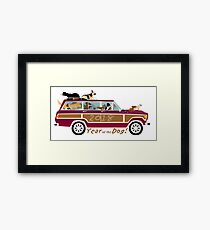 Year of the Dog - Waggies in a Waggy Framed Print