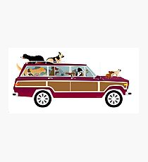 Wags in a Waggy Photographic Print