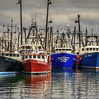 Giants in the harbor _ fishing boats! by Poete100