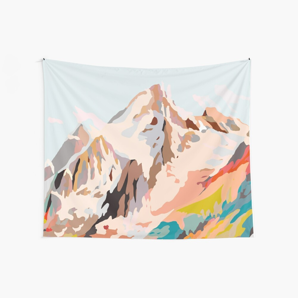 glass mountains Wall Tapestry