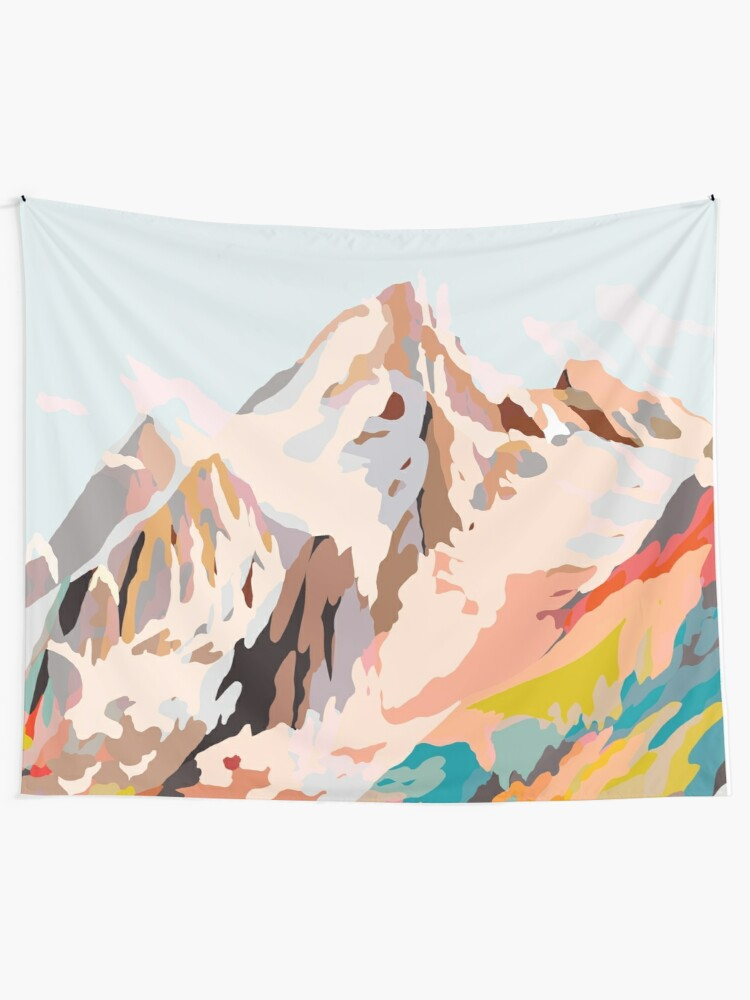 Alternate view of glass mountains Wall Tapestry