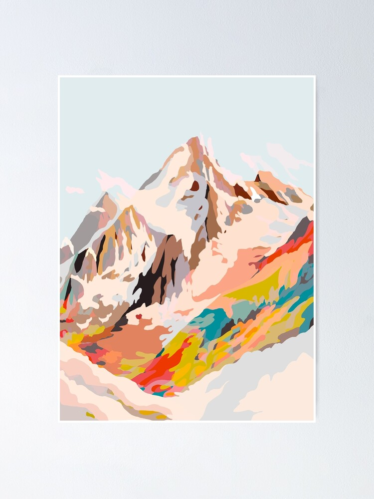 Alternate view of glass mountains Poster