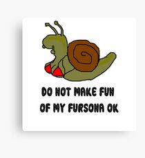 snailsona slogan Canvas Print