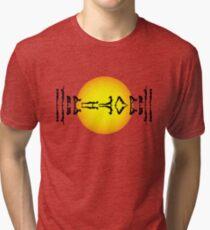 Yoga Design for Yoga Addicts - Yoga Gift - Yoga Art Tri-blend T-Shirt