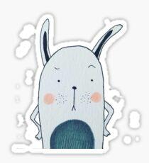 Bored bunny Sticker