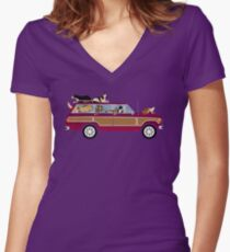 Wags in a Waggy Women's Fitted V-Neck T-Shirt