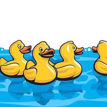 Rubber Ducks in the Bath by jamieleeart