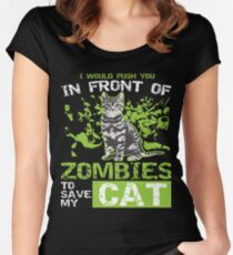 Funny Labrador Retriever Zombie Apparel Women's Fitted Scoop T-Shirt