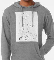 Nude Model Pose Drawing Lightweight Hoodie