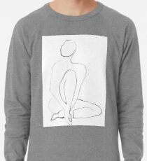Nude Model Pose Drawing Lightweight Sweatshirt