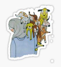 Lots of dogs Sticker