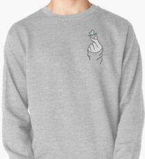 Nettes Herz ~ Pastell Lila Pullover