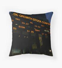 Stock Market Throw Pillow