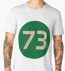 73 The Best Number Big Bang Numbers Puzzle Theory Men's Premium T-Shirt