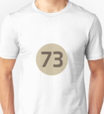 73 The Best Number Big Bang Numbers Puzzle Theory Unisex T-Shirt