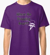 Camiseta clásica ¿Dónde estamos dropeando a los chicos? Camiseta