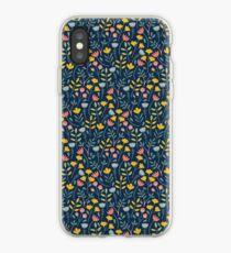 flower, blue iPhone Case