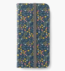 flower, blue iPhone Wallet/Case/Skin
